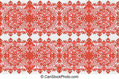 Ukrainian folk art. Traditional national embroidered seamless pattern. Abstract vector texture