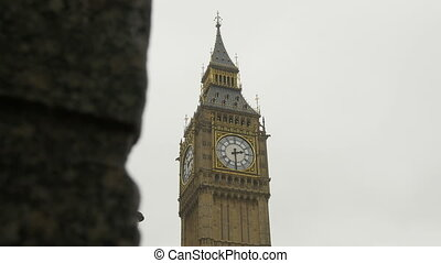 Rainy Big Ben View - Big Ben Tower view on rainy day The...