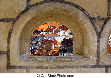 View on Krumlov in Bohemia - View on Cesky Krumlov in...
