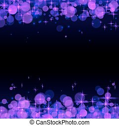 Purple shining bokeh frame abstract background