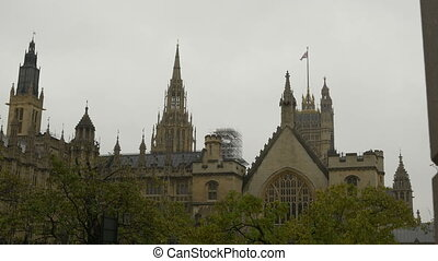 Victoria Tower of House of Parliament - Back view of...