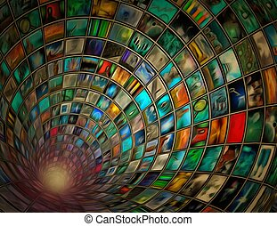 Tunnel of images