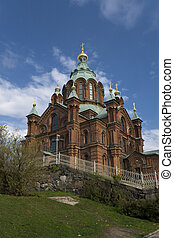 Uspensky cathedral in Helsinki, Finland.