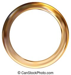 Frame gold ring
