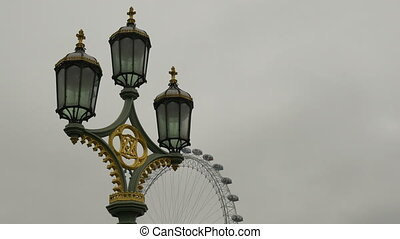 Street Lamps on Westminster Bridge - A tradional street lamp...