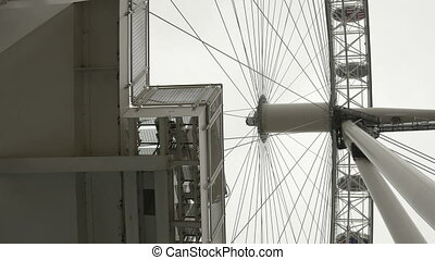 London Wheel Booths - Racursi shot of the London Eye cabins....