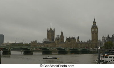 London Palace of Westminster - View of Palace of Parliament...