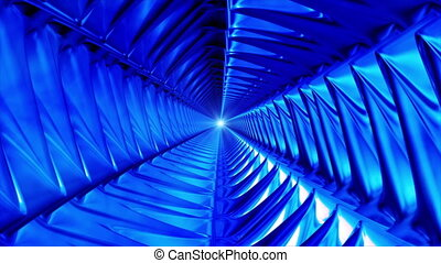 Broadcast Endless Hi-Tech Tunnel, Blue, Abstract, Loopable, HD