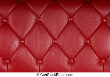 red genuine leather upholstery texture background