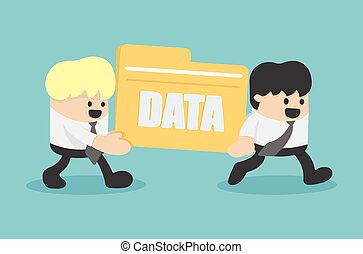 business people transfer Files data