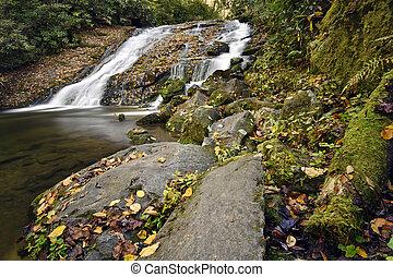 Split Falls - Split water falls in the Great Smoky Mountain...