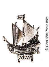 Silver Nina ship - Silver reproduction of the columbus ship...