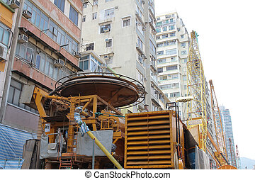 Ma Tau Wai subway building site - the Ma Tau Wai subway...