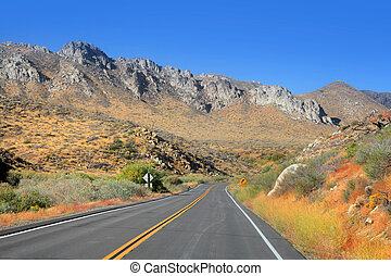Scenic route - Scenic mountain road 89 in California
