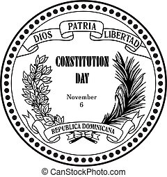 Constitution Day Dominican Republic - Symbol Constitution...