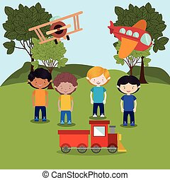 toys kids , vector illustration - toys kids design, vector...