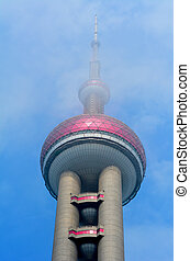 Oriental Pearl Tower in Shanghai, China.