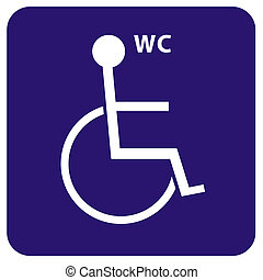 wc - toilet for wheelchair