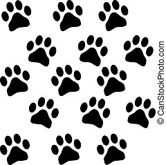 paw prints - background with paw prints