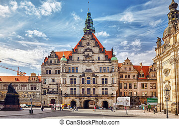 DRESDEN, GERMANY-SEPTEMBER 08, 2015 :Dresden Castle or Royal...