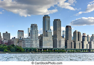 West Side Manhattan - New York City skyline showing the...