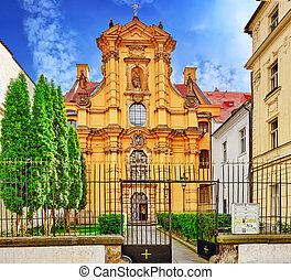 Church of St. Joseph in the Lesser Town are of Prague (Mala...