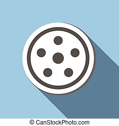 Movie flat icon for web or mobile device