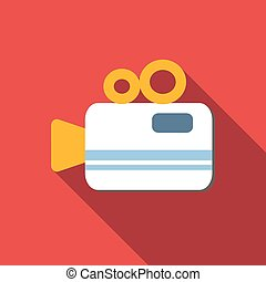 Video camera flat icon for web or mobile device