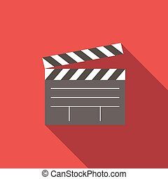 Film flat icon for web or mobile device