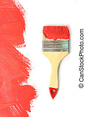 Paint - Red paint on a white background