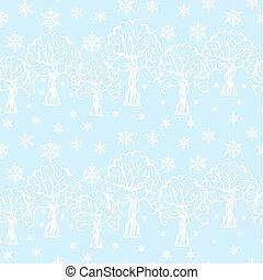 Winter pattern seamless