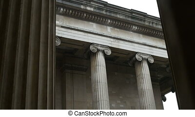 Ionic Capital Columns on Rainy Day - Ionic order capital...
