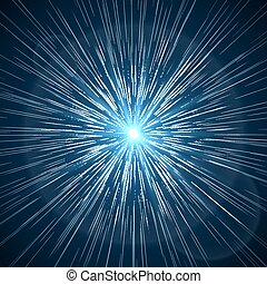 Time warp Supernova starburst vector illustration - Time...