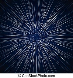 Vector warp stars vector abstract background. Traveling in...
