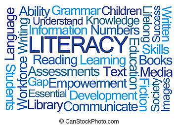 Literacy Word Cloud on White Background