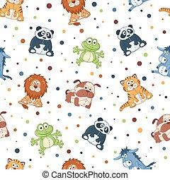 Stuffed animals pattern