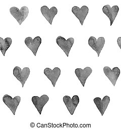 Watercolor background - Watercolor hearts seamless...