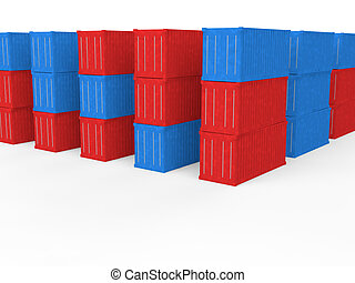 3d shipping containers