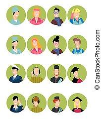 Set of avatars people