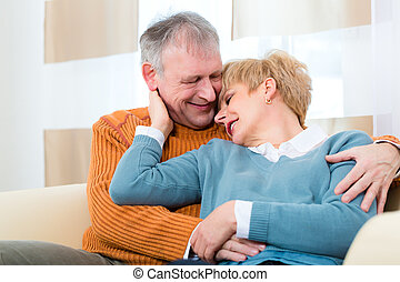Seniors at home still in love after all those years