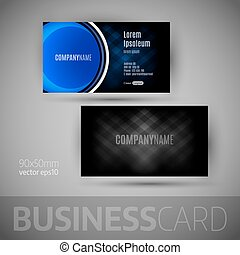 Business Card - Business card with big button Vector design...