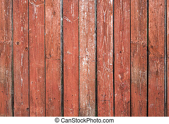 Old red brown board wall - Old red brown, vertical board...