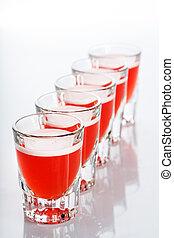 Beautiful shot glasses back lit red - Beautiful shot glasses...