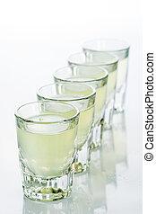 Beautiful shot glasses back lit yellow - Beautiful shot...