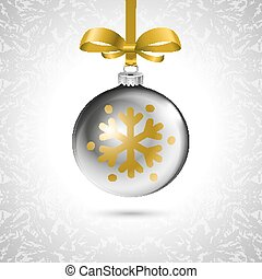 Background with Christmas balls. Eps 10 silver