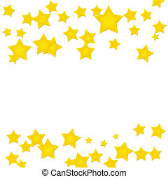Gold Star Border - Gold stars making a border on a white...