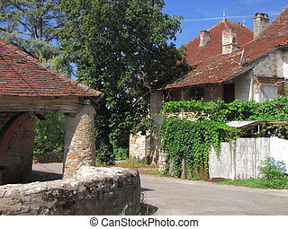 house, village, - Valley of Dordogne ; Lot, Perigord,...
