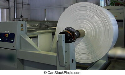Paper roll for a printing press - white Paper roll for a...