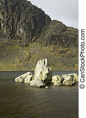 Stickle Tarn, Langdale Pikes, Lake District, Cumbria, Uk