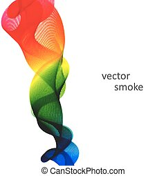 Abstract vector colorful background with transparent smoke